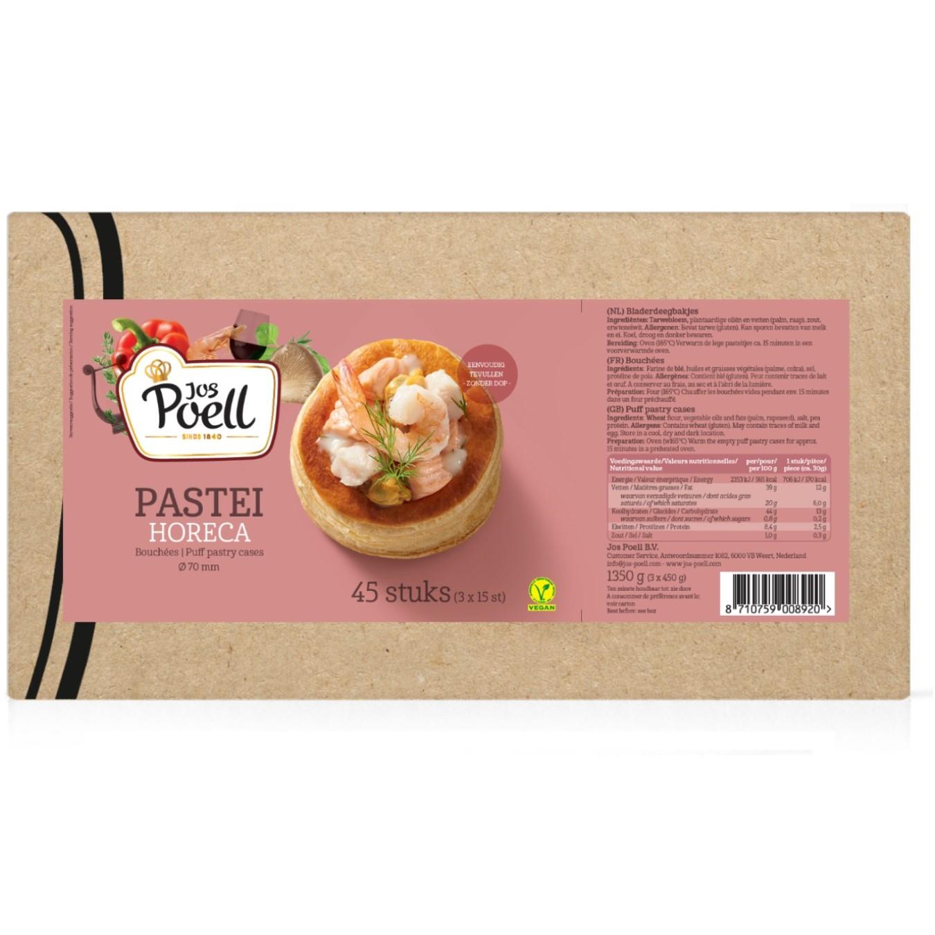 Pastei – Horeca Pastei 45 stuks