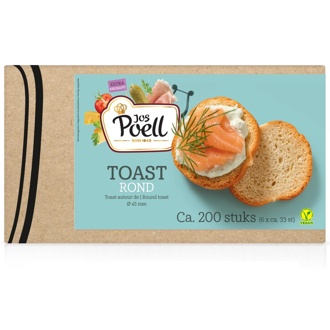 Toast – Horeca Toast rond 200 stuks