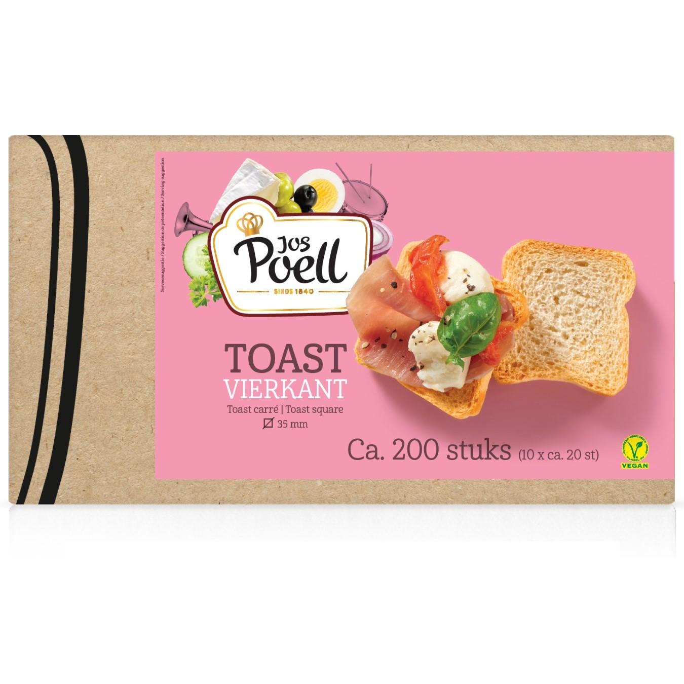Toast – Horeca Toast vierkant 200 stuks