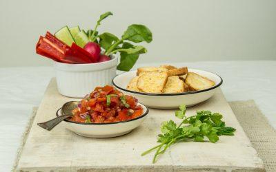 Toasty's Kaas met Mexicaanse salsa