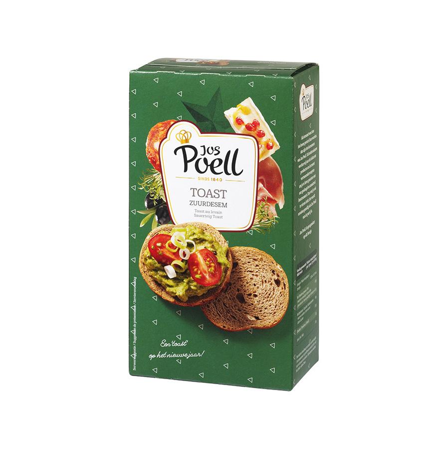 Toast zuurdesem groen/zwart