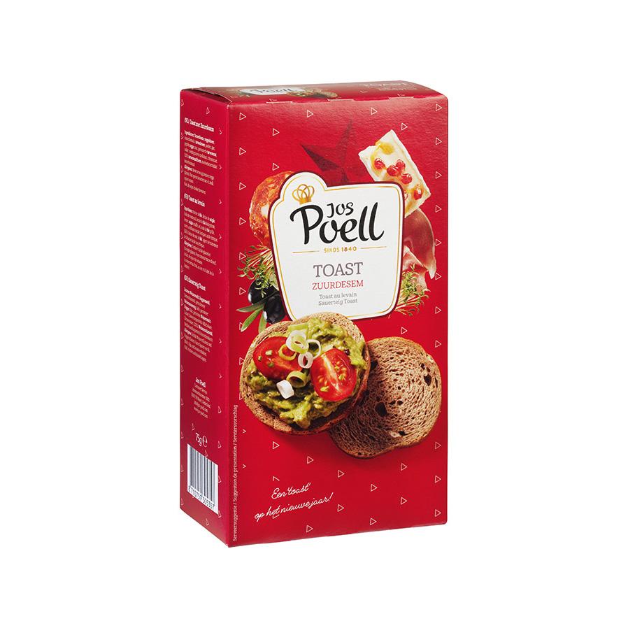 Toast zuurdesem rood/goud
