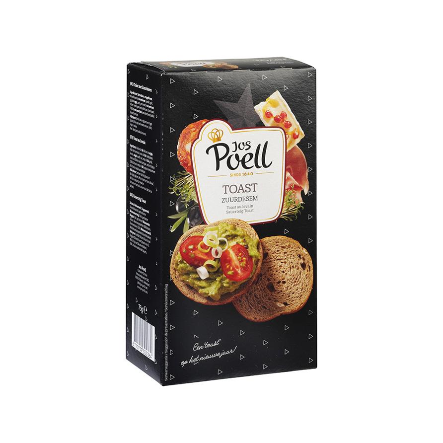 Toast zuurdesem zwart/groen