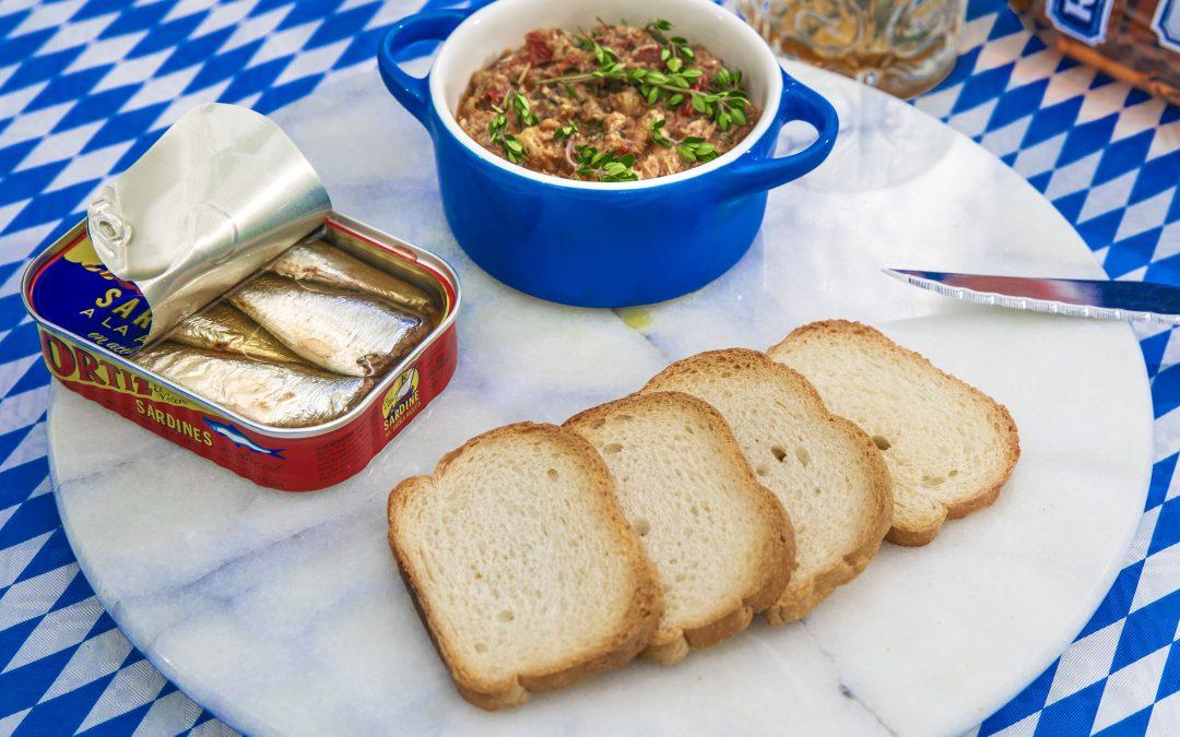 Toast ovaal met sardine tapenade